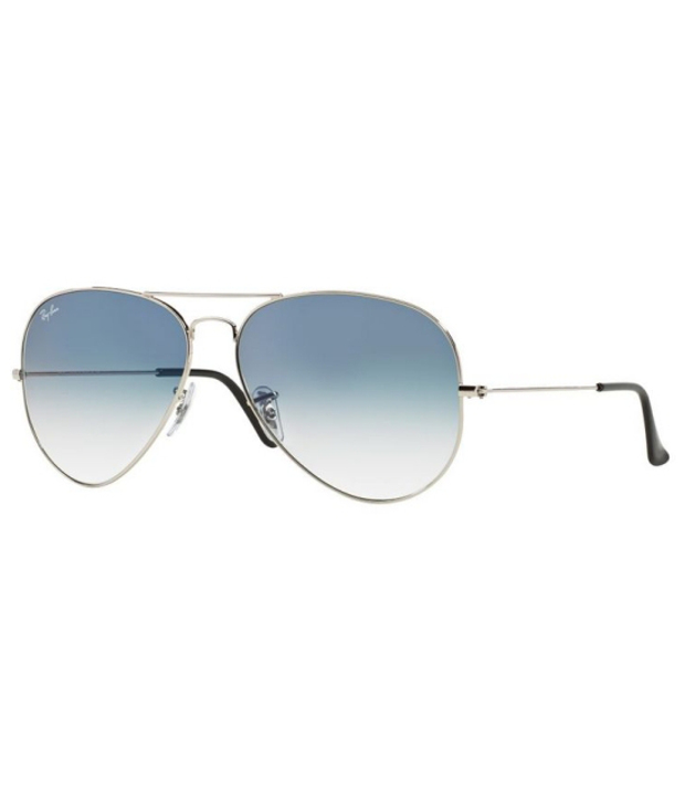 Ray-Ban Rb3025003-3F 58-14-135 Silver & Light Blue Lens Sunglasses
