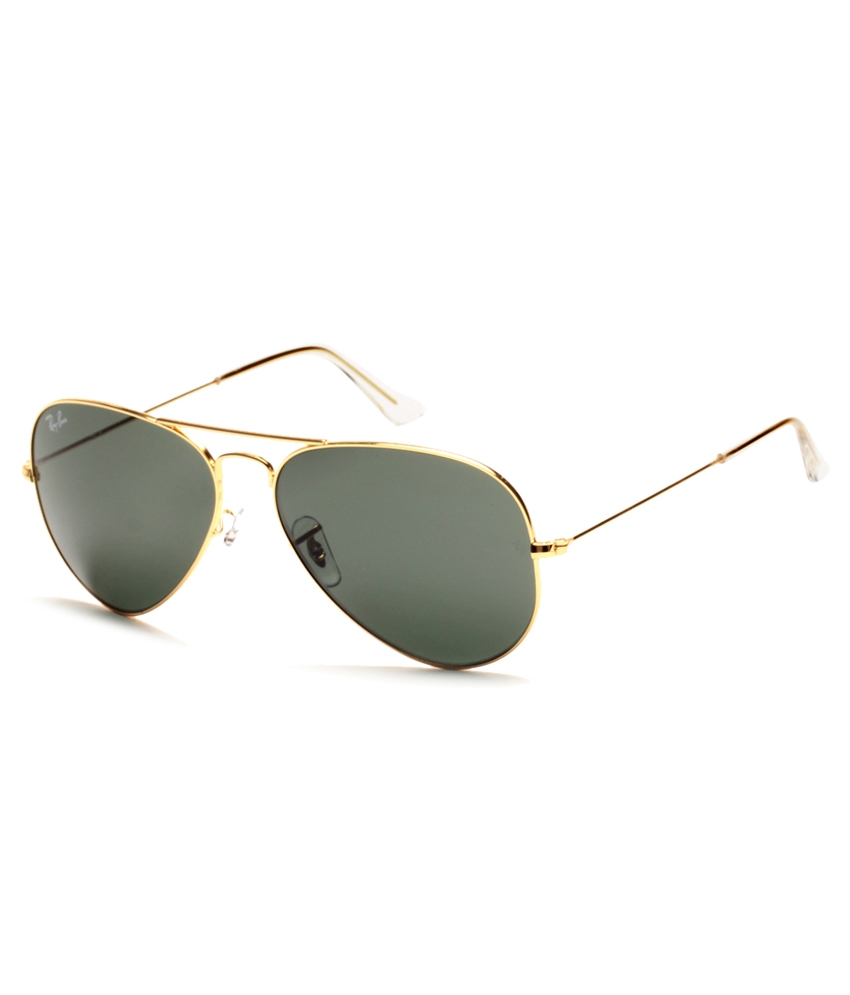 Ray-Ban Rb3025 (L0205) 58-14-135 Golden & Green Aviator Sunglasses
