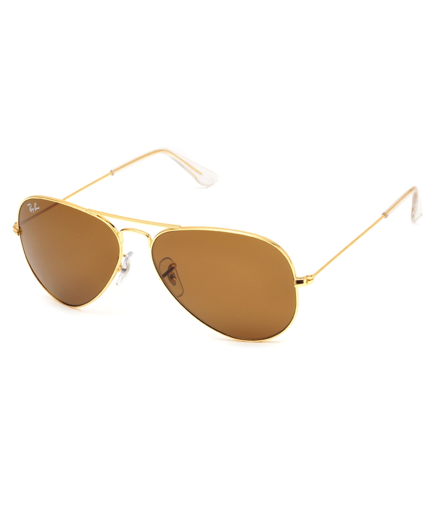Ray-Ban RB3025L9797 58-14-135 Brown Aviator Sunglasses