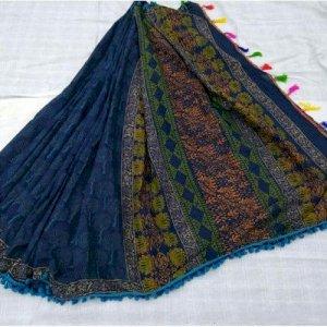 Jaipuri Cotton Printed Sarees, Length: 6 m