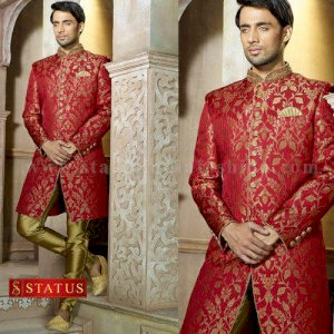 Darkred Colour Indo Western Suit
