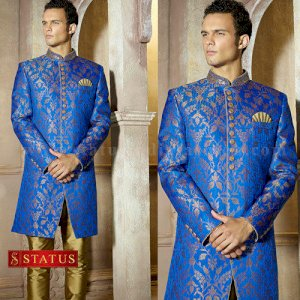 Blue Colour Indo Western Suit