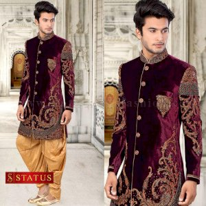 Wine Colour Indowesetrn Suit