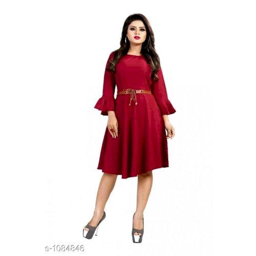 Alexa Attractive American Crepe Dresses