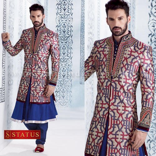 Darkblue Colour Designer Sherwani