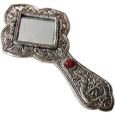 Fancy Aluminum Hand Mirror
