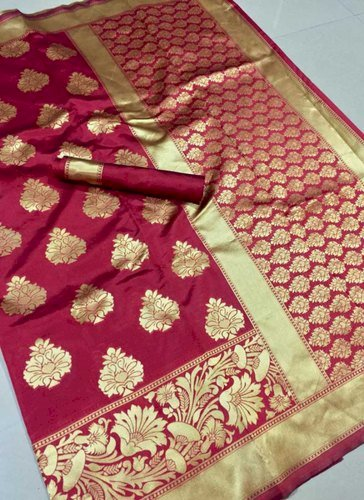 Banarasi Silk Zari Work Non Catalog Sarees