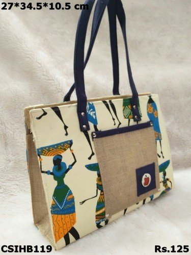 Multicolour Printed Handbag
