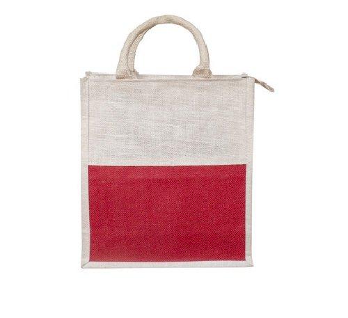 White & Red Jute Bags
