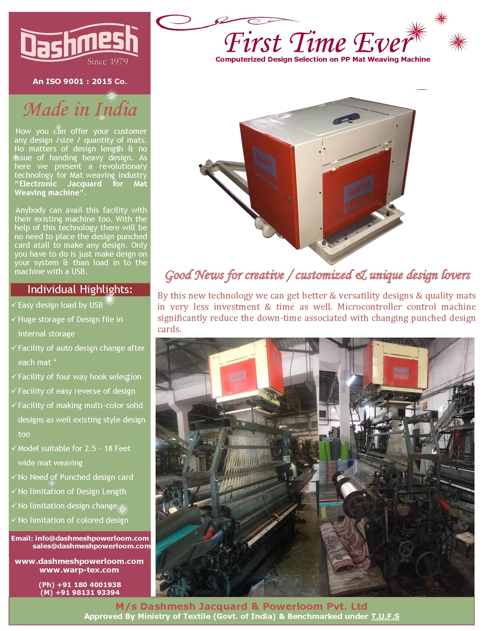 Articles: BROCHURE PP MAT WEAVING ELECTRONIC JACQUARD for