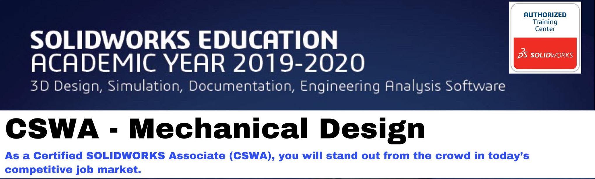 SolidWorks Certification Program-CSWA - Advanced Educare