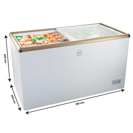 Godrej Glass Top 310 Ltr Range Freezer - GCSW310 R2XB