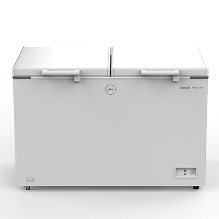 Godrej Edge Penta Hard Top 325 Ltr range double door convertible chest Freezer - DH EPenta 325C 31 CMFH2LM Rw