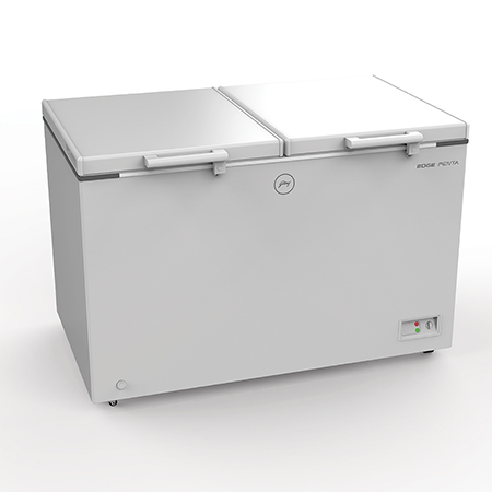 Godrej Edge Penta Hard Top 425 Ltr range double door convertible chest Freezer - DH EPenta 425C 31 CMFH2LM Rw