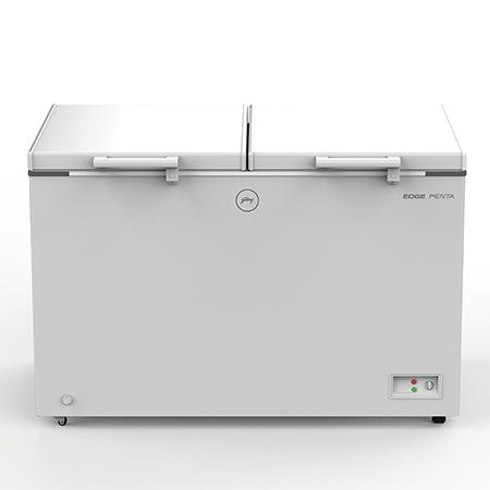 Godrej Edge Penta Hard Top 525 Ltr range double door convertible chest Freezer - DH EPenta 525D 41 CMFH2LM Rw