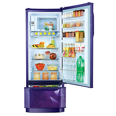 Godrej Edge Duo 225 Ltr 3 Star Direct Cool Single Door Refrigerator - RD EDGEDUO 240C 33 TDI PS BL