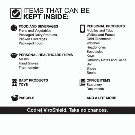 Godrej ViroShield 4.0 30L UV-C Disinfecting Device