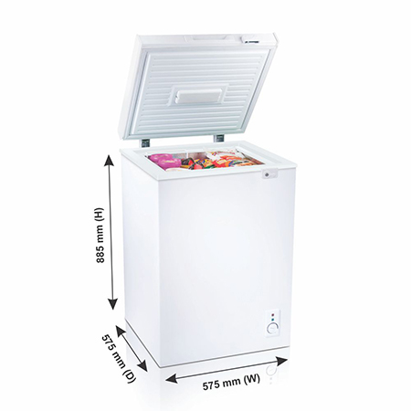 Godrej Hard Top 110 Ltr range single door convertible chest freezer - DH GCHW 110 R6SHC Rw