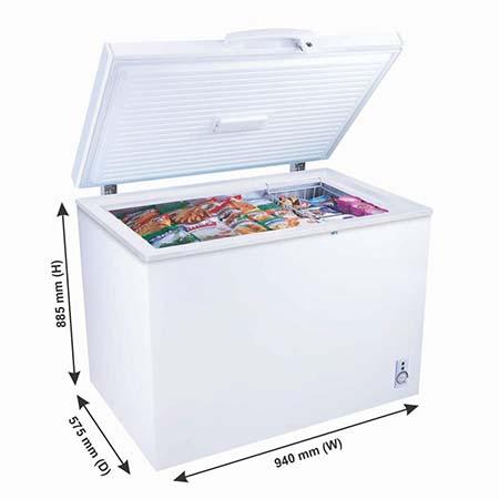 Godrej Hard Top 210 Ltr range single door convertible chest freezer - DH GCHW 210 R6SHC Rw