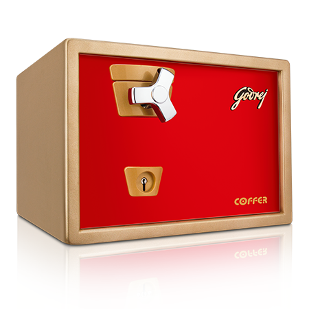 Godrej Premium Coffer V1 Red Home Locker