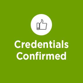 Credentials Confirmed