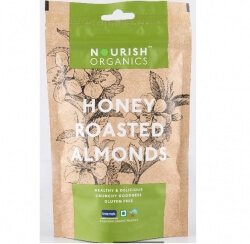 Honey Roasted Almonds 120 Gms-Nourish