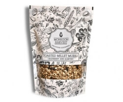 Cranberry & Almond Muesli 250 Gms-Monsoon Harvest