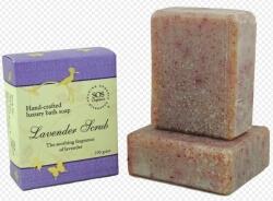 Lavender Scrub Soap 100 Gms-Sos Organics