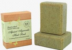 Apricot Ayurvedic Herb Scrub Soap 100 Gms-SOS Organics