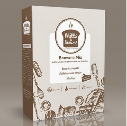 Brownie Mix 260 Gms- Mills & Browns