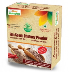 Flax Seeds Chutney Powder 90 Gms - Gau Naturals