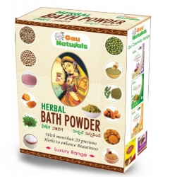 Herbal Bath Powder 180 Gms-Gau Naturals