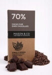 Cacao Chip Dark Chocolate 70 Gms-Mason