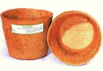 Coir Pot 8 Inch Set of 3-for Green