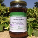 Lemon No Oil Pickle 400 Gms-Navadarshanam