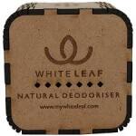 Natural Car Deodoriser (Round Edged)-White Leaf