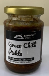 Green Chilli Pickle 150 Gms - Savera Naturals