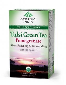 Tulsi Pomegranate Tea 18 Bags-Organic India