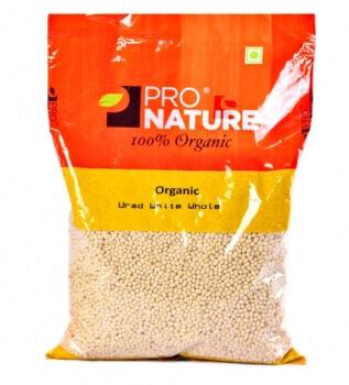 Urad White Whole 500 Gms-Pro Nature