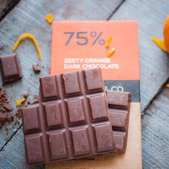 Zesty Orange Dark Chocolate 70 Gms-Mason