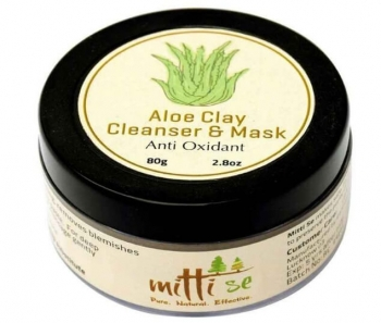 Aloe Clay Cleanser & Mask 80 Gms-Mitti Se