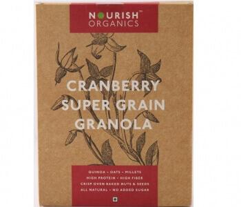 Cranberry Super Grain Granola 300 Gms-Nourish