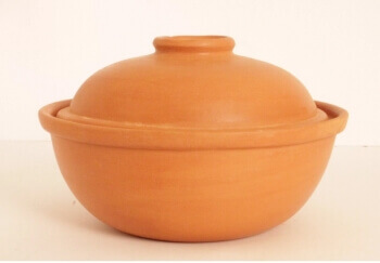 Terracotta Microwave Safe Cooking Bowl -The Indus Valley