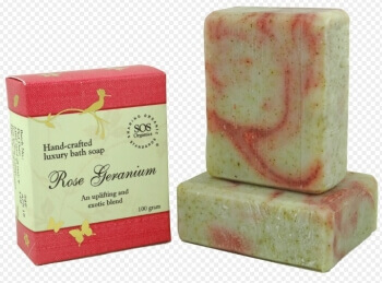 Rose Geranium Soap 100 Gms-Sos Organics