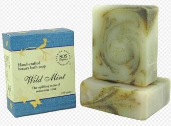 Wild Mint Soap 100 Gms-Sos Organics