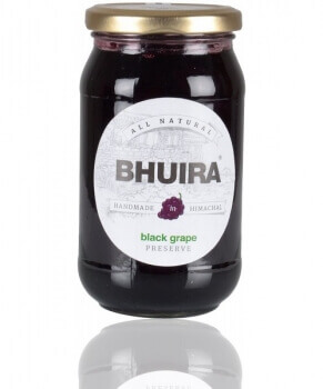 Black Grape Preserve 240 Gms-Bhuira