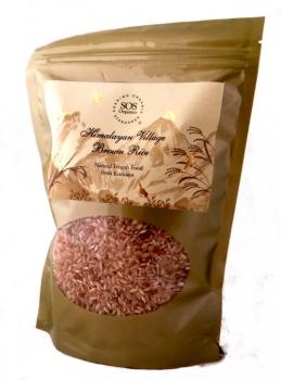 Himalayan Village Brown Rice 500 Gms-SOS Organics