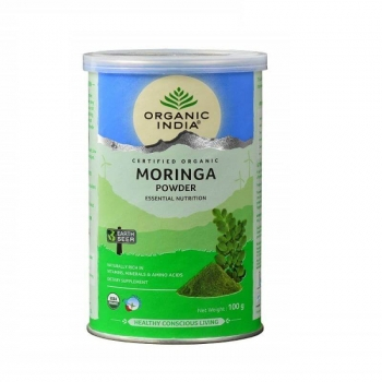 Moringa Powder Tin 100 Gms - Organic India