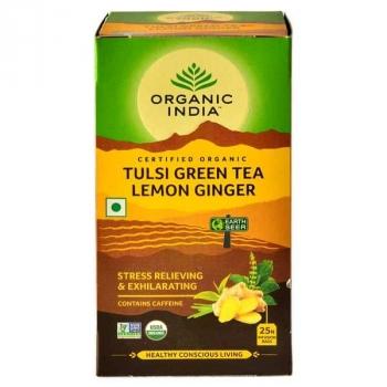 Tulsi Lemon Ginger 25 Bags - Organic India