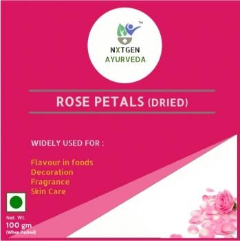 Rose Petals Dried 100 Gms - NXTGEN Ayurveda